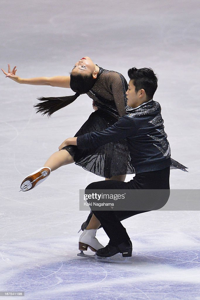 Maia Shibutani and Alex Shibutani of United States compete in the Ice Dance free program during day three of ISU Grand Prix of Figure Skating 2013/2014 NHK Trophy at on November 10, 2013 in Tokyo, Japan.