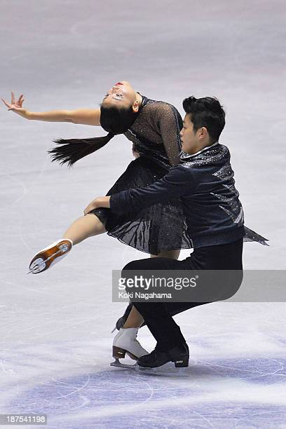 Maia Shibutani and Alex Shibutani of United States compete in the Ice Dance free program during day three of ISU Grand Prix of Figure Skating...