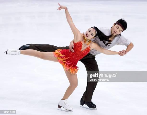 Maia Shibutani and Alex Shibutani of United States skate in the Ice Short Dance during ISU Rostelecom Cup of Figure Skating 2012 at the Megasport...