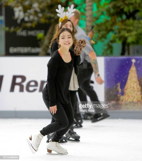 Maia Shibutani attends Instagram's #Instaskate 2018 at LA Kings Holiday Ice LA Live on November 27 2018 in Los Angeles California
