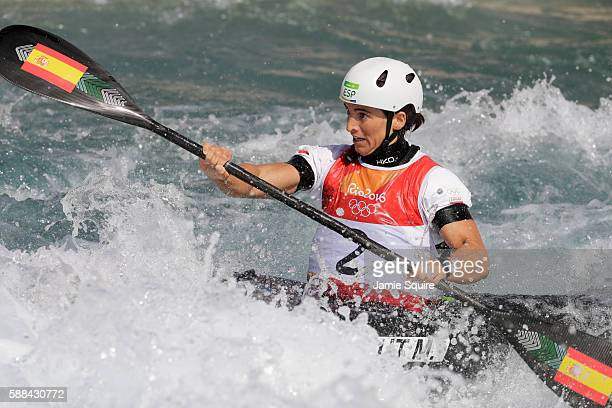 Maialen Chourraut of Spain competes during the Women's Kayak Semifinal on Day 6 of the Rio 2016 Olympics at Whitewater Stadium on August 11 2016 in...