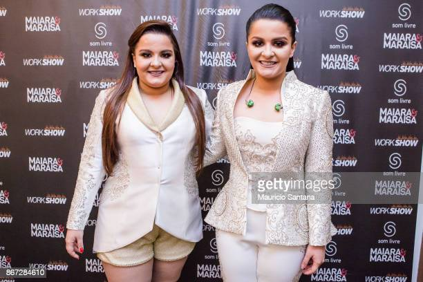 Oct 27: Maiara and Maraisa before the concert at Citibank Hall on October 27, 2017 in Sao Paulo, Brazil.