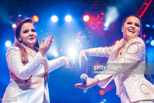 Maiara and Maraisa performs live on stage at Citibank Hall on October 27 2017 in Sao Paulo Brazil