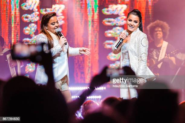 Oct 27: Maiara and Maraisa performs live on stage at Citibank Hall on October 27, 2017 in Sao Paulo, Brazil.