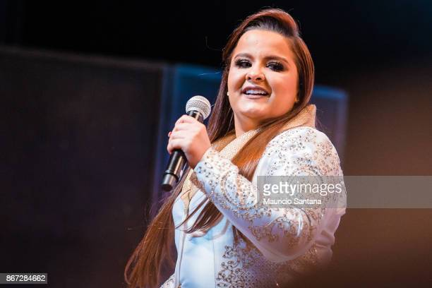 Maiara member of the duo Maiara and Maraisa performs live on stage at Citibank Hall on October 27 2017 in Sao Paulo Brazil