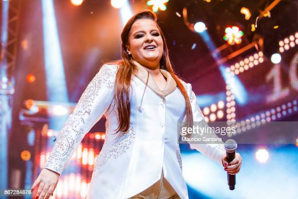 Oct 27: Maiara member of the duo Maiara and Maraisa performs live on stage at Citibank Hall on October 27, 2017 in Sao Paulo, Brazil.