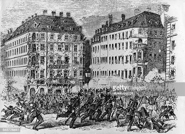 Maiaufstand in Dresden Nach derZurückweisung der Reichsverfassung derFrankfurter Nationalversammlung durchdie Staaten des Reiches ruft in Dresdender...
