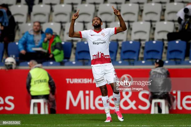 Maicon Marques of Antalyaspor during the Turkish Super lig match between Istanbul Basaksehir v Antalyaspor at the Fatih Terim Stadium on December 17...