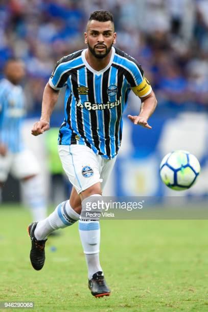 Maicon of Gremio a match between Cruzeiro and Gremio as part of Brasileirao Series A 2018 at Mineirao stadium on April 14 2018 in Belo Horizonte...