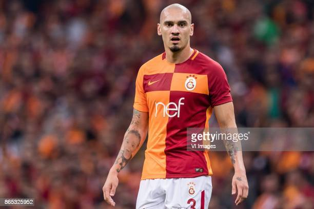 Maicon Pereira Roque of Galatasaray SK during the Turkish Spor Toto Super Lig football match between Galatasaray SK and Fenerbahce AS on October 22...