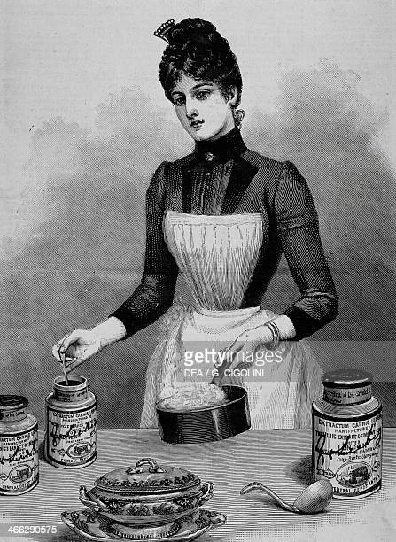 Maid in the kitchen illustration from the Illustrated London News 1890 United Kingdom 19th century