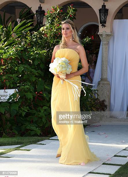 RATES Maid of Honor Ivanka Trump processes during the wedding ceremony of Ivana Trump and Rossano Rubicondi at the MaraLago Club on April 12 2008 in...
