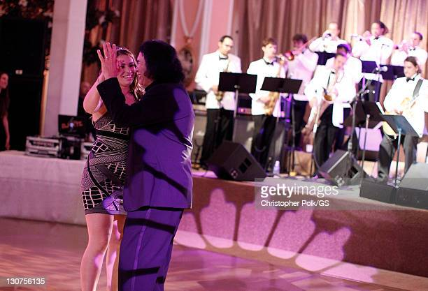 Maid of Honor Sophie Tweed Simmons and Groom Gene Simmons attend the wedding of Gene Simmons and Shannon Tweed held at the Beverly Hills Hotel on...