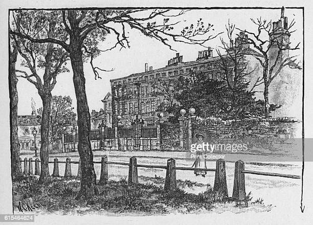 Maid of Honour Row, Richmond', 1890. From Picturesque London, by Percy Fitzgerald. [Ward & Downey, London, 1890]. Artist WC Keene