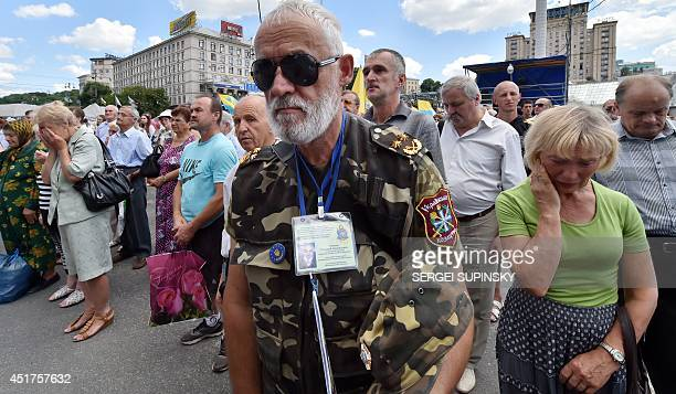 Maidan activists commemorate Ukrainian servicemen who died during the anti-terrorist operation that took place on eastern Ukraine, at Kiev's...