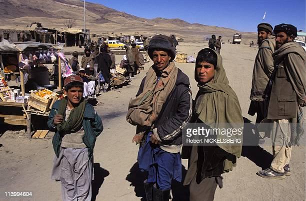 Maidan Shah, taleban soldiers In Afghanistan On February 22, 1995.