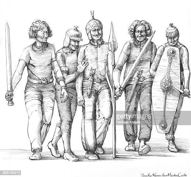Maiden Castle Dorset Prehistory Reconstruction drawing showing Iron Age warriors The Iron Age is an archaeological era referring to a period of time...