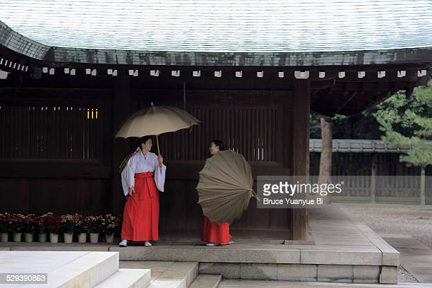 Maidens in Meiji Shrine