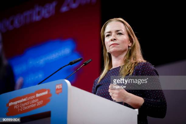 Maije Laffeber PES Deputy Secretary General in the course of the PES party congress on December 01 2017 in Lisbon Portugal