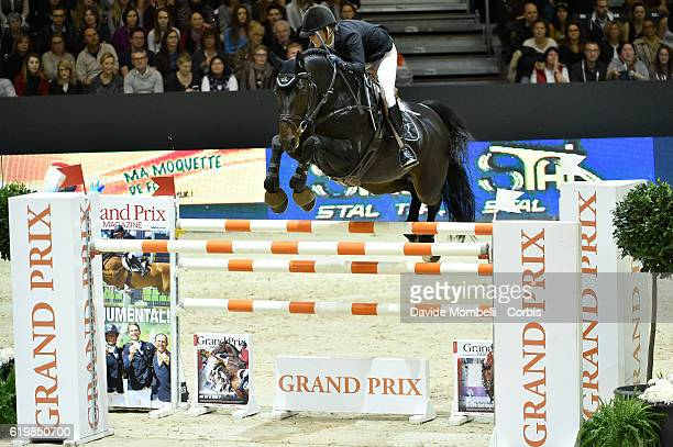 Maiju of Finland rides Vatson Sitte during the Grand Prix Longines FEI World Cup by GL Events at in the EQUITA Lyon France Photo by Davide...