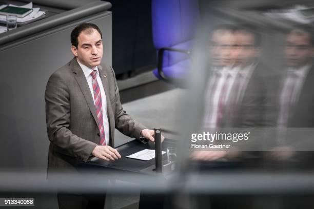 Maik Beermann CDU/CSU is speaks during the meeting of the Bundestag on February 01 2018 in Berlin Germany