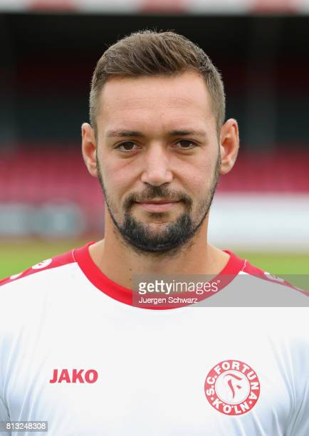 Maik Kegel of Fortuna Koeln poses during the team presentation at Suedstadion on July 12 2017 in Cologne Germany
