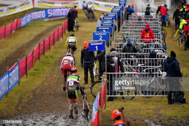 Maik Van Der Heijden of The Netherlands / Mathieu Morichon of France and Team Royalbikeshop.com / Mechanic Zone / Mechanics / Soigneur / Staff /...