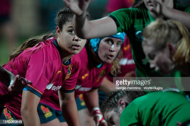 Maika Brust of Spain looks on during the Rugby World Cup 2021 Europe Qualifying match between Spain and Ireland at Stadio Sergio Lanfranchi on...