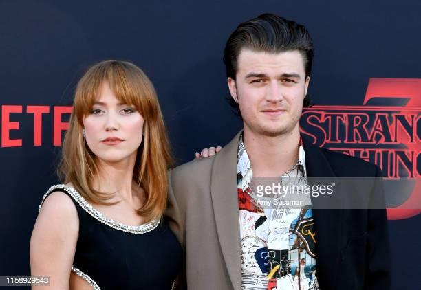 "Maika Monroe and Joe Keery attend the premiere of Netflix's ""Stranger Things"" Season 3 on June 28, 2019 in Santa Monica, California."