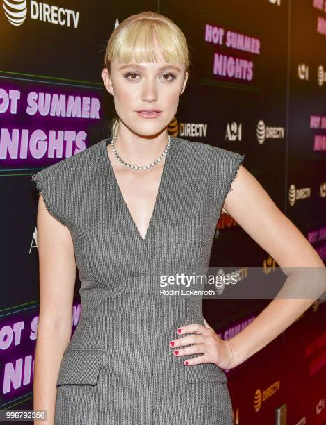 Maika Monroe arrives at the screening of A24's 'Hot Summer Nights' at Pacific Theatres at The Grove on July 11 2018 in Los Angeles California