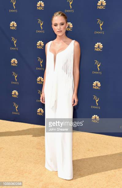 Maika Monroe attend the 70th Emmy Awards at Microsoft Theater on September 17 2018 in Los Angeles California