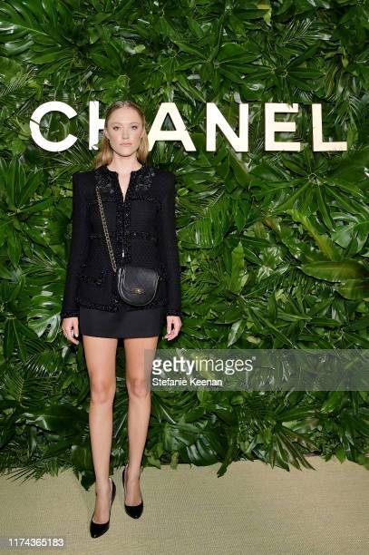 Maika Monroe attends Chanel Dinner Celebrating Gabrielle Chanel Essence With Margot Robbie on September 12 2019 in Los Angeles California