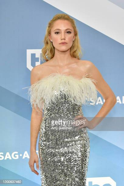 Maika Monroe attends the 26th Annual Screen ActorsGuild Awards at The Shrine Auditorium on January 19 2020 in Los Angeles California