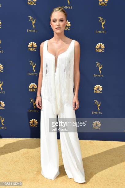 Maika Monroe attends the 70th Emmy Awards at Microsoft Theater on September 17, 2018 in Los Angeles, California.