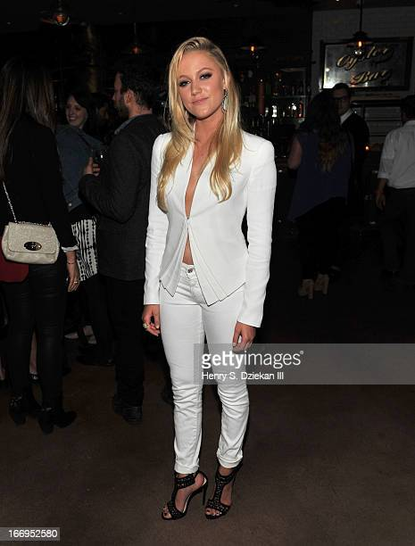 """Maika Monroe attends the after party for the Cinema Society & Bally screening of Sony Pictures Classics' """"At Any Price"""" at Clarkson on April 18, 2013..."""
