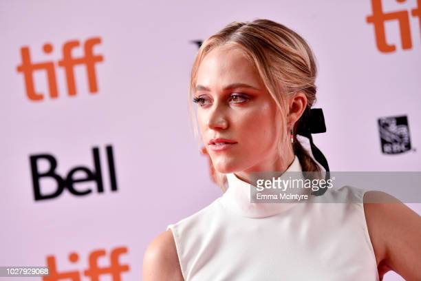 Maika Monroe attends the Greta premiere during the 2018 Toronto International Film Festival at Ryerson Theatre on September 6 2018 in Toronto Canada