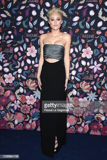 Maika Monroe attends the Harper's Bazaar Exhibition as part of the Paris Fashion Week Womenswear Fall/Winter 2020/2021 At Musee Des Arts Decoratifs...