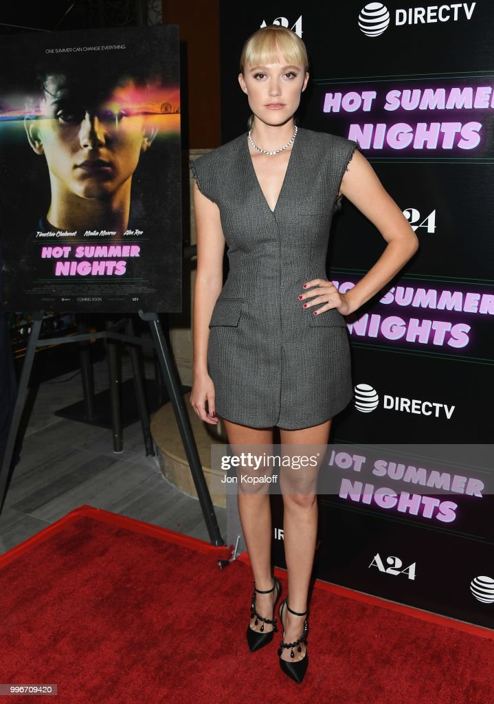 Maika Monroe attends the Los Angeles special screening of 'Hot Summer Nights' at Pacific Theatres at The Grove on July 11, 2018 in Los Angeles, California.