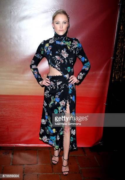 Maika Monroe attends the premiere of IFC Films' 'The Tribes Of Palos Verdes' at The Theatre at Ace Hotel in Los Angeles California