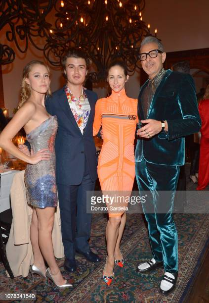 Maika Monroe, Joe Keery, Emilie Livingston and Jeff Goldblum attend a private dinner hosted by GQ and Dior in celebration of the 2018 GQ Men Of The...