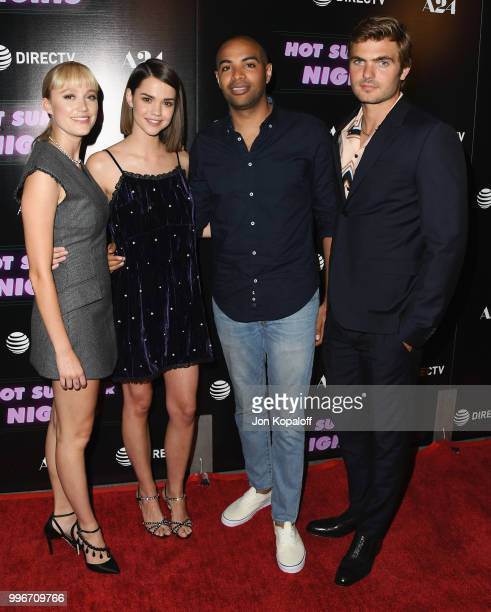 Maika Monroe Maia Mitchell Elijah Bynum and Alex Roe attend the Los Angeles special screening of 'Hot Summer Nights' at Pacific Theatres at The Grove...