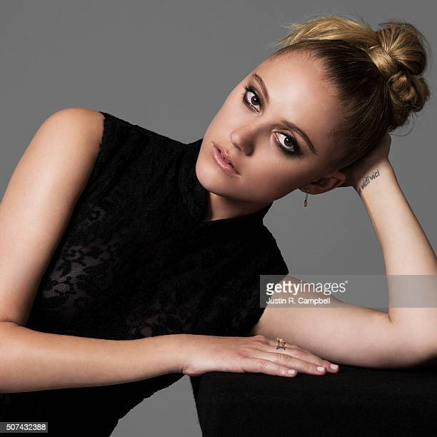 Maika Monroe of 'The 5th Wave' is photographed for Just Jared on January 21 2016 in Los Angeles California