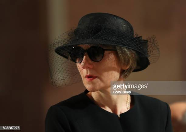 Maike KohlRichter the widow of former German Chancellor Helmut Kohl arrives for a requiem for Kohl at the Speyer cathedral on July 1 2017 in Speyer...