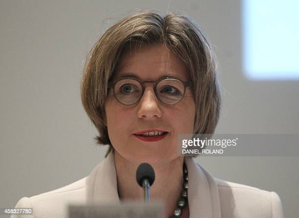 Maike KohlRichter the wife of former German Chancellor Helmut Kohl delivers a speech during the presentation of Kohl's book titled Out of Concern for...