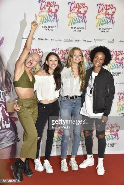 Maike Mohr Emily Kusche Flora Li Thiemann and Alice Martin attend the 'Tigermilch' Premiere at Kino in der Kulturbrauerei on August 15 2017 in Berlin...