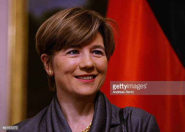 Maike RichterKohl wife of former German Chancellor Helmut Kohl attends a private dinner at Bellevue Pallace on December 8 2009 in Berlin Germany...