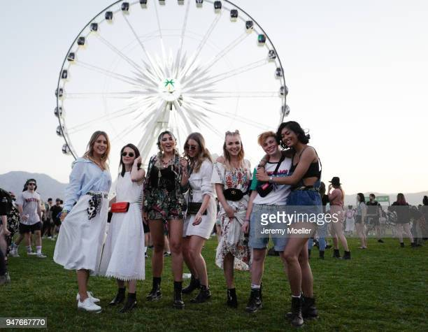Maike Schmitz Sonja Paszkowiak Katharina Damm Kira Tolk Patrizia Palme Erik Scholz Anuthida Ploypetch during day 1 of the 2018 Coachella Valley Music...