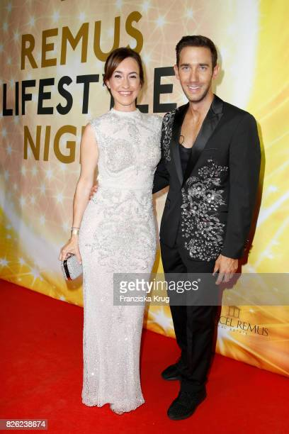 Maike von Bremen and Marcel Remus attend the Remus Lifestyle Night on August 3 2017 in Palma de Mallorca Spain