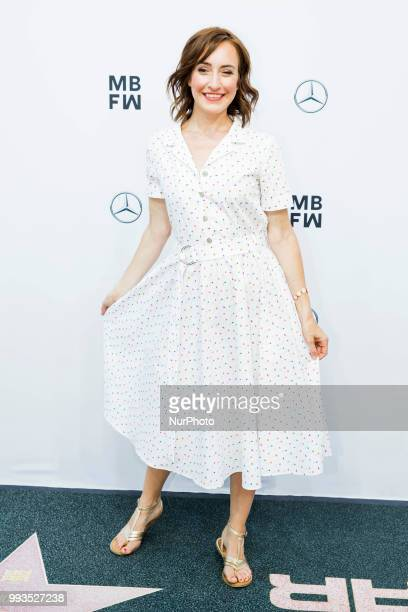 Maike von Bremen arrives to attend the Riani Fashion Show during the Mercedes Benz Fashion Week at ewerk in Berlin Germany on July 4 2108