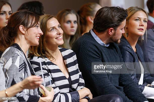 Maike von Bremen Ulrike Frank Alina Merkau and guest attend the 'La Boum Fashion Studio' by Soccx in Hoppegarten on September 18 2015 Berlin Germany